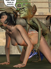 Lost chick gets fucked by goblins