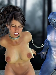 Angry 3D Nurse pleasures horny 3D Cyclop Monster