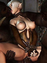 Sexy 3D Jade getting her great tits fucked