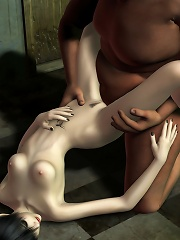 3D Blonde getting penetrated by dick