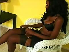 Superb Ebony Loves  Her Twat