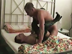 Amateur In Leather  And Boots Sucks Cock