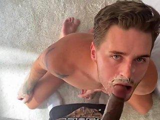 Josh Moore Skull Fucked Cum Facial By Big Black Cock