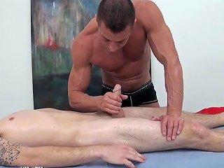 HD Gayroom Travis Is Massaged By Tyler Saint