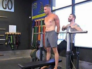 Tony Shore In Tony Shore Tied Up And Edged At The Gym Menonedge