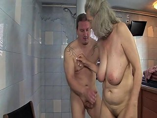 Shameless Sex With Granny In The Bathroom Free Hd Porn B6