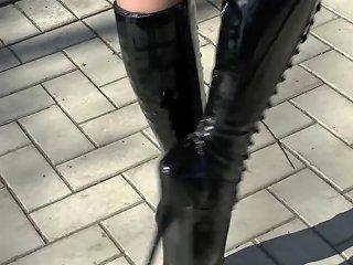 Natural Brunette Ballet Heels Latex Corset 1 Porn Bd