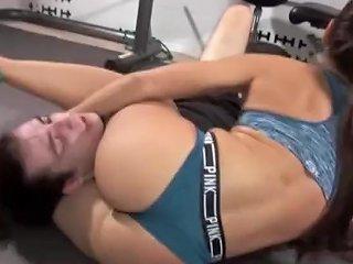 Skylar Wrestles Guy At Gym