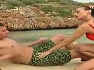 German Lifeguard Sucking And Fucking On The Beach Porn Videos