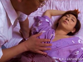 Japanese Milf Uses Her Wisdom To Work His Cock