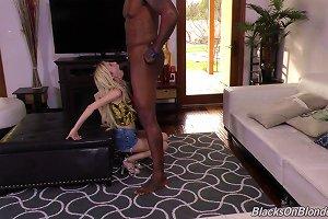 Blonde Loving Black Python Doggystyle In Interracial Porn