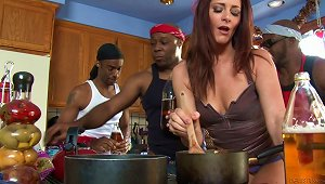 Ravishing MILF Gets Double Penetrated By Hung Black Studs