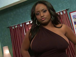 A Sexy, Curvy Black Girl Gets Her Fill Of Hard, White Cock