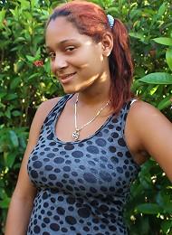 Young big-tittied Dominican chica Maria fucks black dick