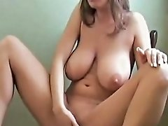 Babe With Bodacious Natural Boobs Fingers Her Twat Nuvid