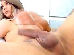 Huge Tits Blonde Tranny Masturbates Big Cock Tranny Porn 4f