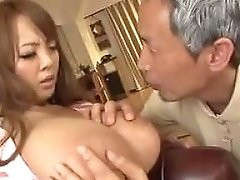 Busty Asian Having An Old Man Sucking Her Breasts Porn 4f
