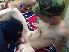 Nice Looking Soldier Enjoys Sucking Some Civil Cock Hardcore
