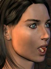 3D Elf Girl blowing and getting gooey jizz
