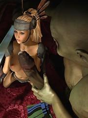 Poor 3D Elf Girl gets forced to suck