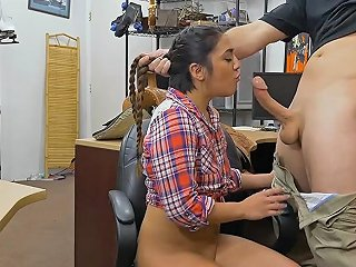 Braid Hair Babe Anal Fucked By Pawn Man In His Pawnshop
