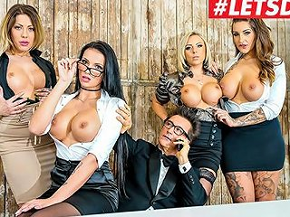 Letsdoeit Hot Christmas Group Sex At The Office Part 1