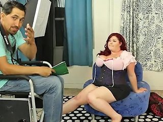 Busty Bbw Model Auditions For Calendar And Fucks