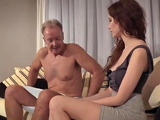 Old Young Porn Natural Teen Takes Grandpa Cock In Her