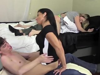 Step Mom Humps Son While Step Father Humps Stepdaughter Family Taboo Txxx Com