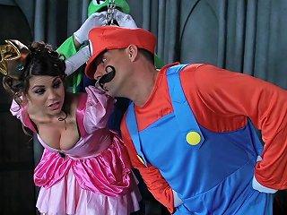 Mario And Luigi Naild Princess Peach In A Threesome