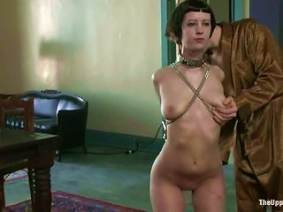 Her Hands Are Handcuffed From Behind And She Is Naked