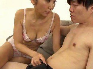 Milf Hikari Satomari Undresses Her Dude Ready To Get Fucked
