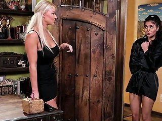 Hot Latin Babe Katya Rodriguez Is Pleasing Pussy Of Seductive Blond Client