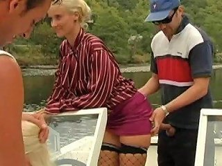 Randy Women On A Boat Bend Over For Their Handsome Friends