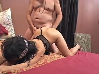 Hot Brunette In Leotard Gets Anal And A Big Facial Porn 14
