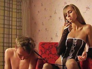 Cute Russian Teen Dominatrix Tortures Her Thrall Txxx Com