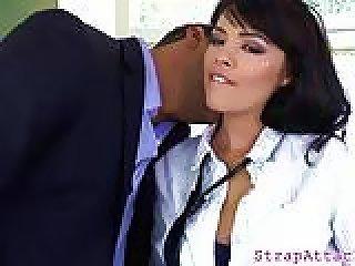Beautiful Glam Schoolgirl Pegs Her Slave