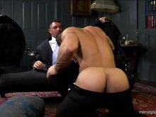 Two hairy italian studs get naked and have an awesome hardcore sex