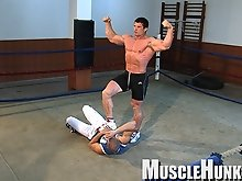 Muscle worship gets extreme when Melvin tries to put up a fight, but is no match for Arkady!