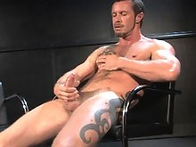 Rocco Banks is interviewed by Steve Cruz. Rocco talks about visiting the US from England and what turns him on. He admits to Steve that he has a video