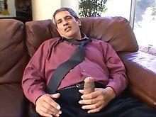 Hard hunk Herschel Savage masturbating and cumming on camera