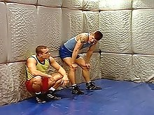 Wrestling jock play with eachothers cocks