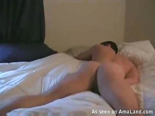 Horny Hunk Jacks Off On A White Bed