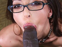Slut with glasses fucks black man on video for his eyes only....or so she thought