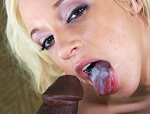 POV fuck fest with white girl and black cock drilling into her