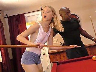 Monster Black Dick Fucks Petite Bodied White Skank Chloe Couture