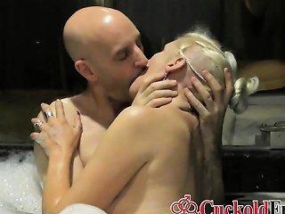 Husband Watch Mature Wife Cuckold In Jacuzzi Drtuber