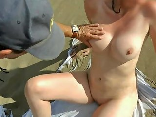 Stranger On The Beach Jerking Off On My Wife Free Porn Ea
