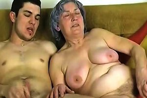 Sassy Grey Haired Granny Takes Part In Ffm Threesome With Young Couple