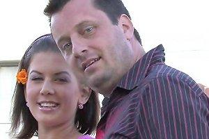 Lovely Brunette Cuckold Husband